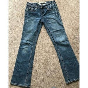 Seven7 Bootcut Distressed Flare Jeans Size 6